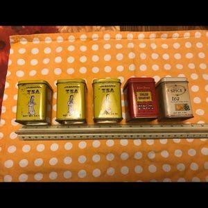 """Vintage Tea Tins 80""""s"""